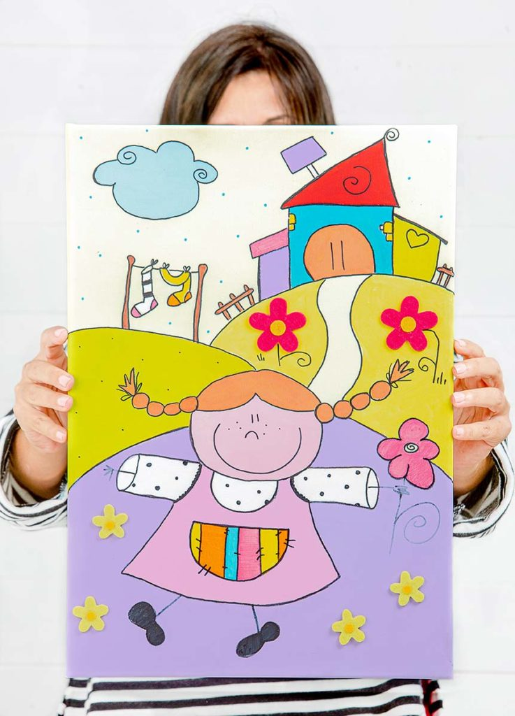quadretti per camerette con illustrazioni personalizzate